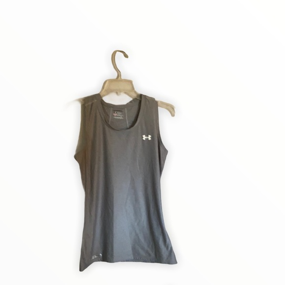 Gray Under Armor fitted tank top